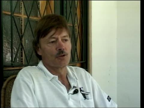 Cricket demonstrations torture allegations Simon Spooner interviewed SOT