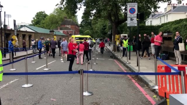 cricket fans arrive at lord's ahead of the second day of the second ashes test former england captain andrew strauss is preparing for an emotional... - captain scarlet stock videos and b-roll footage