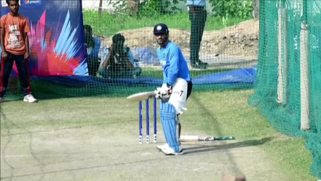 cricket legend dhoni said saturday he had retired from india's national team, but left open the possibility that he would carry on playing in the... - moving image stock videos & royalty-free footage