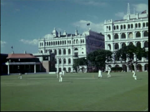 cricket pitch at colonial club, hong kong, 1950 - empire stock videos & royalty-free footage