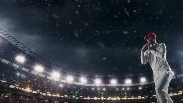cricket player on the stadium - batsman stock videos & royalty-free footage