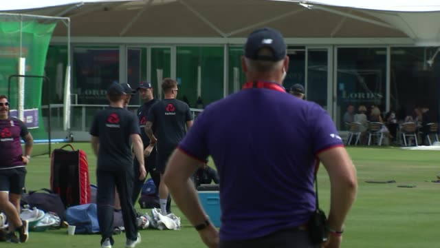 england team training / lord's gvs england london lord's ext various of england crickets training including ben stokes joe root and eoin morgan /... - practising stock videos & royalty-free footage