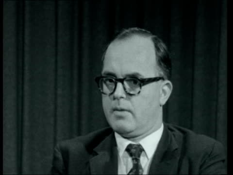 stockvideo's en b-roll-footage met crime and murder rate in britain; england: london: mr je hall williams interview sof - neg 16mm itn 1.34mins tx 27.1.1961/9:25pm 22289 - crime and murder