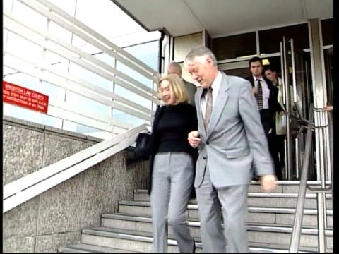 vídeos y material grabado en eventos de stock de daughter of police chief given community service paul whitehouse and daughter frances away from court frances whitehouse along track paul and frances... - paul whitehouse