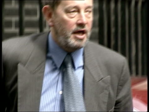 eu court rulling on life sentences itn downing street home secretary david blunkett mp from car pan - sentencing stock videos & royalty-free footage