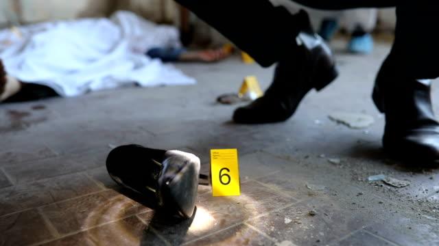 vídeos de stock, filmes e b-roll de investigação de crime em movimento - assassinato