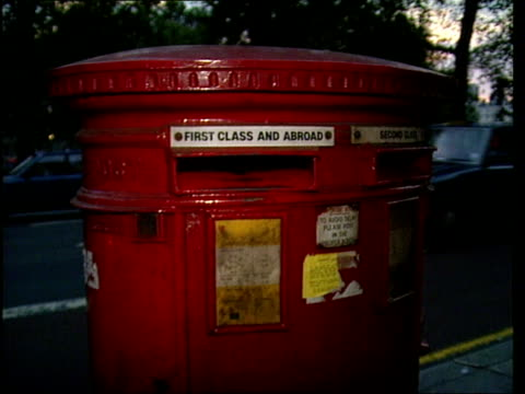 rabies ransom threat **** for england london night ext ealing police stn pillar box on park lane marks i/c - rabies stock videos & royalty-free footage