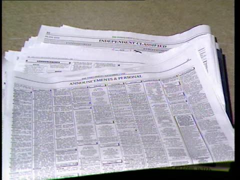stockvideo's en b-roll-footage met rabies ransom threat; personal columns in newspapers - rabiës