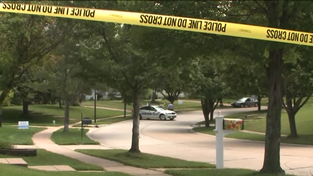 ktvi crime scene after a ballwin missouri police officer was shot during a traffic stop on july 8 2016 tensions between black communities and police... - st. louis missouri stock videos & royalty-free footage