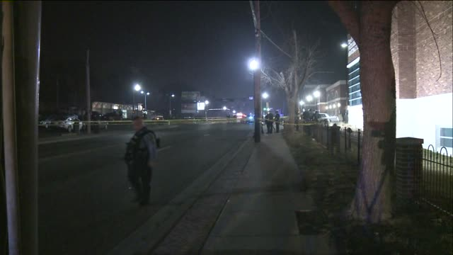 crime scene after two police officers were shot during protests on march 11 2015 in ferguson missouri - sportschießen stock-videos und b-roll-filmmaterial