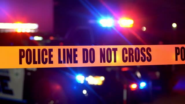 vidéos et rushes de scène de crime la nuit - crimes et délits