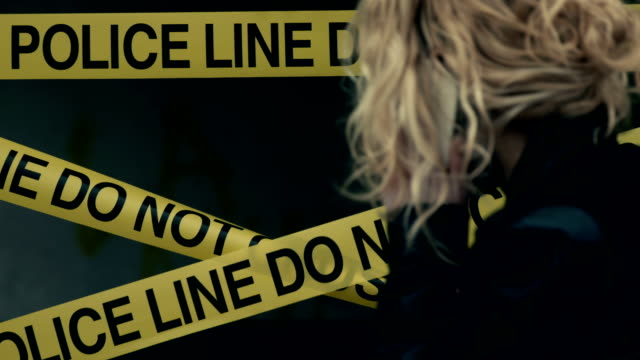 crime scene inspection. detective talking on phone - detective stock videos & royalty-free footage
