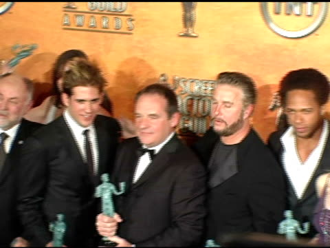 crime scene investigation' cast winners for outstanding ensemble in a drama series at the 2005 screen actors guild sag awards photo room at the... - csi: crime scene investigation television show stock videos & royalty-free footage