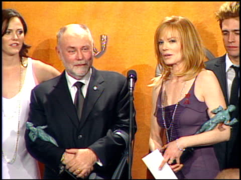 'csi crime scene investigation' cast winners for outstanding ensemble in a drama series at the 2005 screen actors guild sag awards press room... - csi: crime scene investigation television show stock videos & royalty-free footage