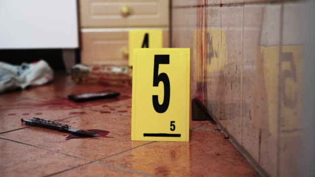 crime scene investigation - knife weapon stock videos & royalty-free footage