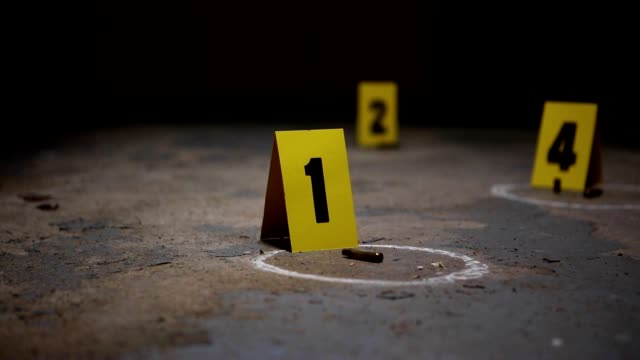 crime scene markers - cartridge stock videos & royalty-free footage