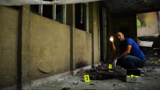 犯罪現場 - 証拠点の映像素材/bロール