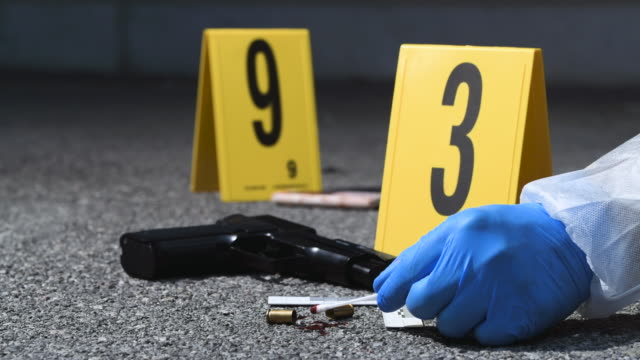 crime scene - cartridge stock videos & royalty-free footage