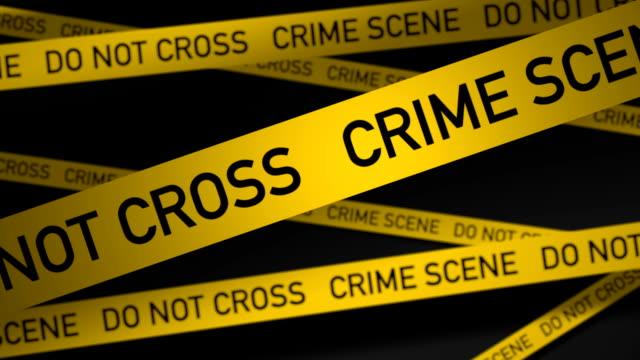 vídeos de stock, filmes e b-roll de cena de crime - proibido