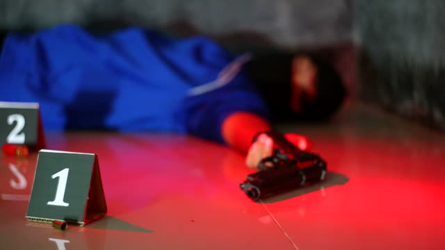 crime science -place of shooting - forensic science stock videos & royalty-free footage