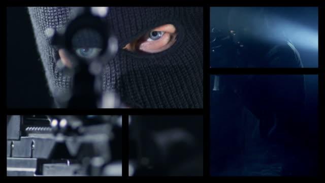 vídeos y material grabado en eventos de stock de delincuencia splitscreen - pantalla dividida
