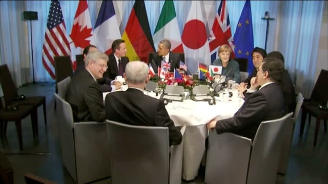 G8 summit in Russia cancelled / US extends financial sanctions against Russia INT Herman Van Rompuy Stephen Harper Francois Hollande David Cameron MP...