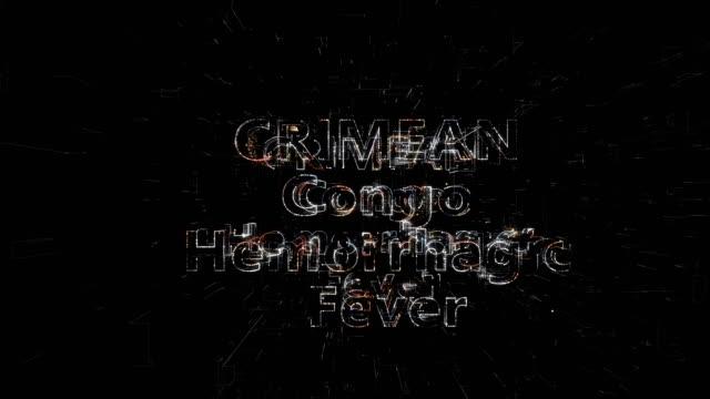 crimean congo hemorhagic fever title animation - retrovirus stock videos & royalty-free footage