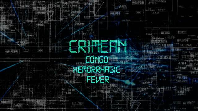 animazione del titolo crimean congo hemorhagic fever - vettore della malattia video stock e b–roll