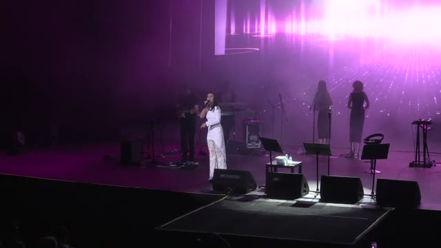 crimean tatar singer jamala who won the 61st annual eurovision song contest with the song '1944' performs on the stage during a concert as part of... - 61st eurovision song contest stock videos and b-roll footage