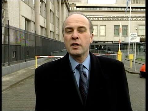 slobodan milosevic war crimes trial; itn ext i/c - slobodan milosevic stock-videos und b-roll-filmmaterial
