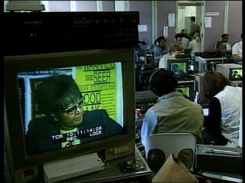 Crime/Politics Winnie Mandela ITN Media covering hearing