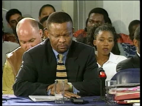 Crime/Politics Winnie Mandela POOL INT Winnie Mandela swearing oath before giving evidence to Truth and Reconciliation Commission Truth and...