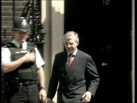 al qaida prisoners concerns over rights lib ex england london downing street jack straw mp out of no10 and away pan - jack straw stock videos and b-roll footage