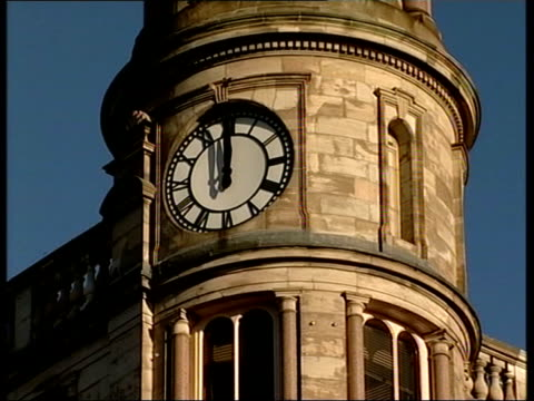 crime/terrorism daniel mccolgan funeral tms ms coffin carried out of church la ms clock on tower showing 1200 midday int gvs pupils at daniel's old... - midday stock videos & royalty-free footage