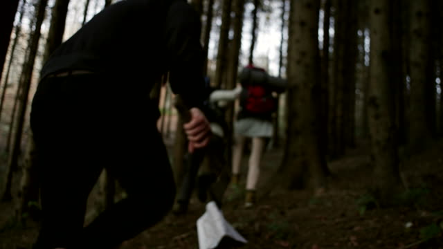 Criminal Chasing Hikers With Hatchet