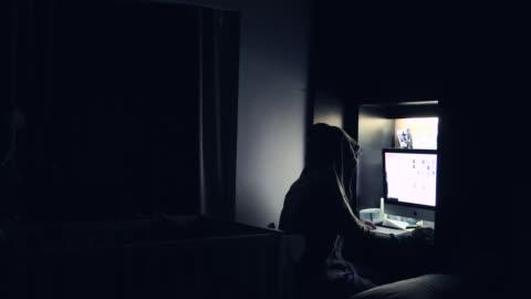 criminal hacker cracking system, computer terrorism, - stealing crime stock videos & royalty-free footage