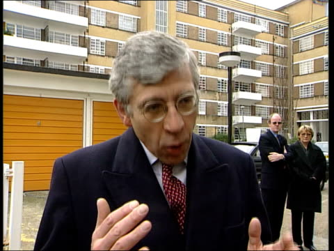 criminal justice bill unveiled; itn england: london: brixton: ext home secretary jack straw mp along to bv away as greets local officials block of... - jack straw stock videos & royalty-free footage