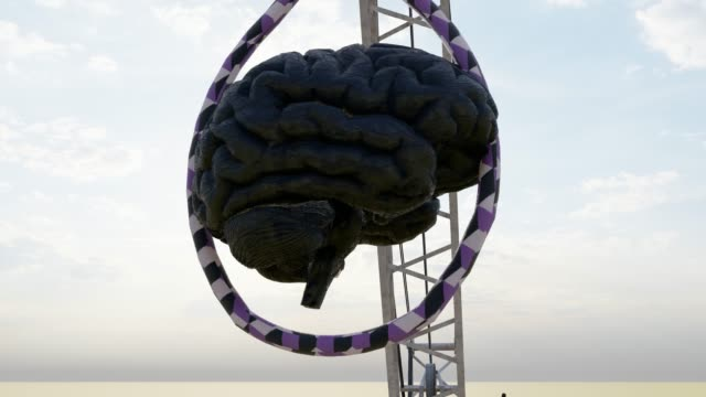criminal mind with hangman noose on crane - hanging gallows stock videos & royalty-free footage