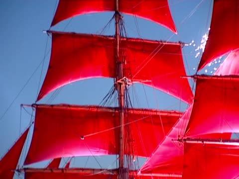 crimson sails. - convoy stock videos and b-roll footage