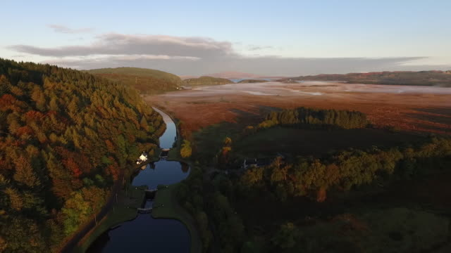 crinan canal, argyll, west coast of scotland - 50 seconds or greater stock videos & royalty-free footage