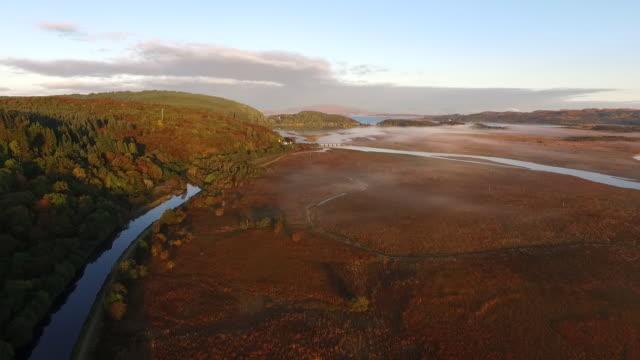 crinan canal, argyll, west coast of scotland - twilight stock videos & royalty-free footage