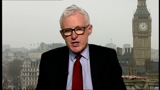 waiting times are worst in a decade; england: london: gir: int norman lamb mp at westminster interview sot - ニナ・ホサイン点の映像素材/bロール