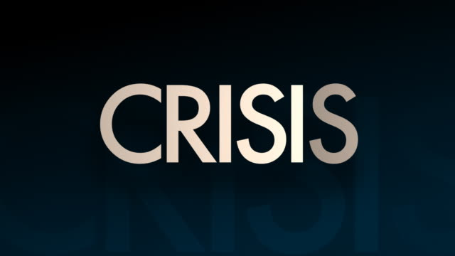 Crisis Financial Money Symbol Bankruptcy Recession