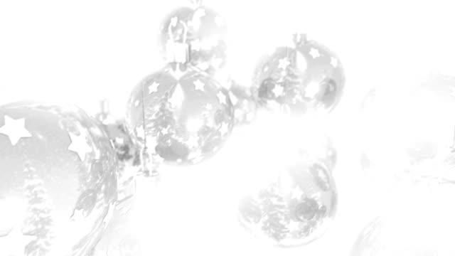 Frische, klare und hellen Christmas Ball auf weißem Hintergrund