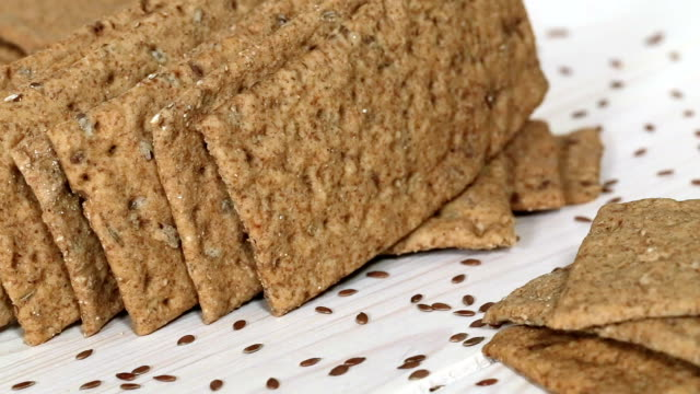 Crispbread with flax and cumin.