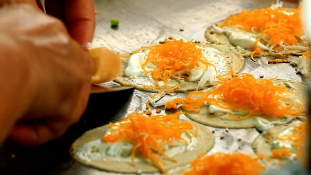 crispy pancakes - bangkok, thailand - orange new jersey stock videos & royalty-free footage