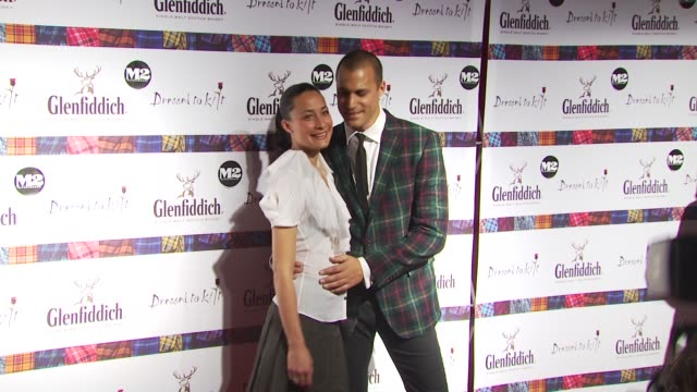 cristen chin and nigel barker at the 8th annual 'dressed to kilt' charity fashion show at new york ny - dressed to kilt stock videos & royalty-free footage