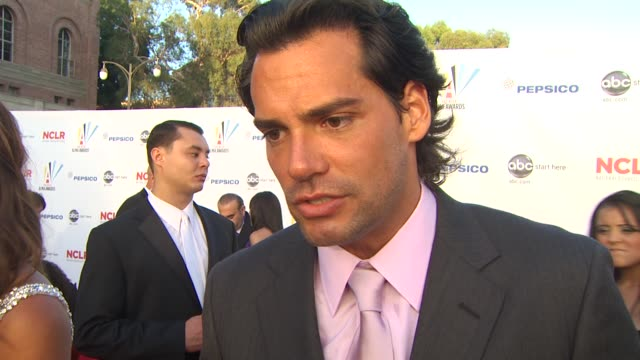 cristi_n de la fuente on the importance of the alma awards at the 2009 alma awards at westwood los angeles ca - alma awards stock videos and b-roll footage