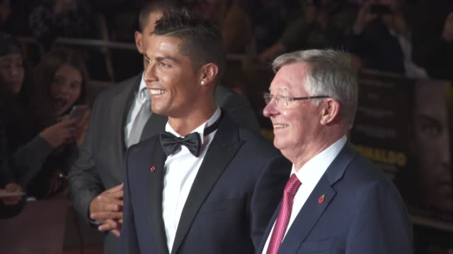 Cristiano Ronaldo Alex Ferguson at 'Ronaldo' UK Film Premiere at Vue West End on November 09 2015 in London England