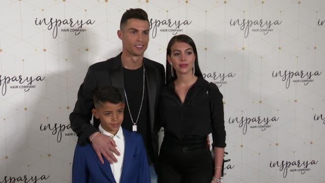 vidéos et rushes de cristiano ronaldo and georgina rodriguez inaugurate 'insparya' - fils de